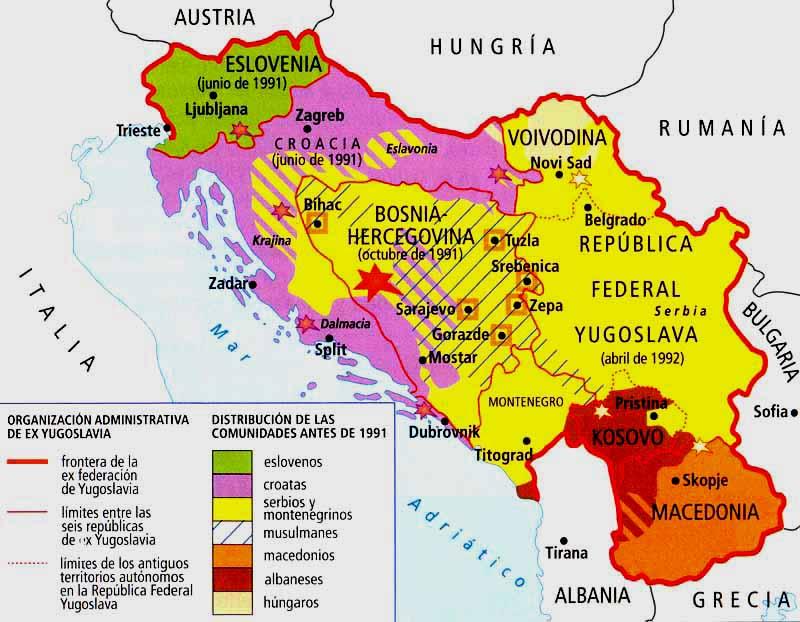 Resultado de imagen de GUERRA INDEPENDECIA YUGOSLAVIA